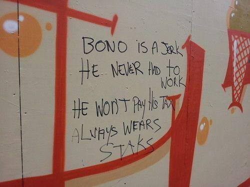 Bono is a Jerk...